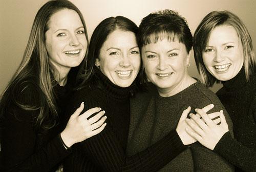 Family Photo - Sepia